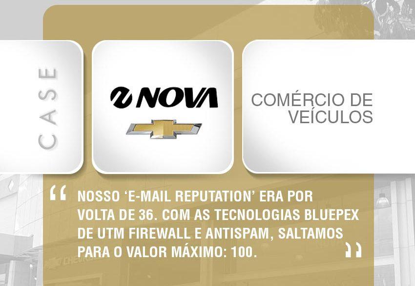 Sistema da BluePex soluciona problema de blacklist de e-mails para Chevrolet Nova